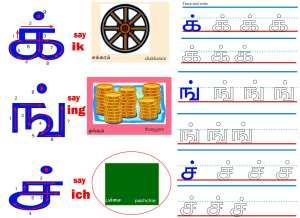 கையெழுத்து பயிற்சி - மெய் எழுத்துகள்  Hand writing- Tamil consonants